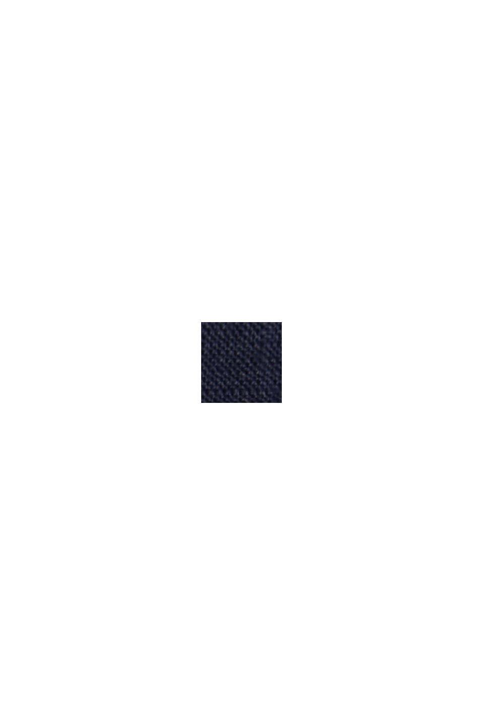 Av 100% linne: Culottebyxa med elastisk linning, NAVY, swatch