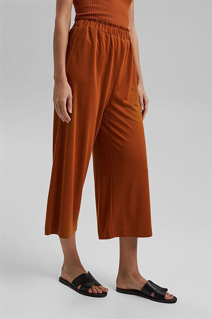 Van een modalmix: soepele culotte