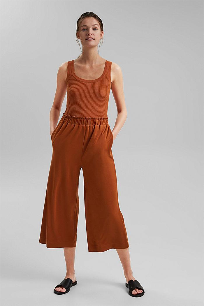 Modal blend: flowy culottes, CARAMEL, detail image number 1