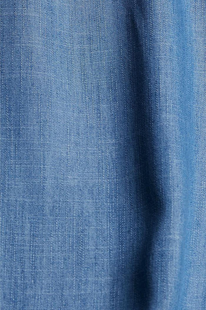 CURVY TENCEL™: Jogg-Hose im Jeanslook, BLUE MEDIUM WASHED, detail image number 4