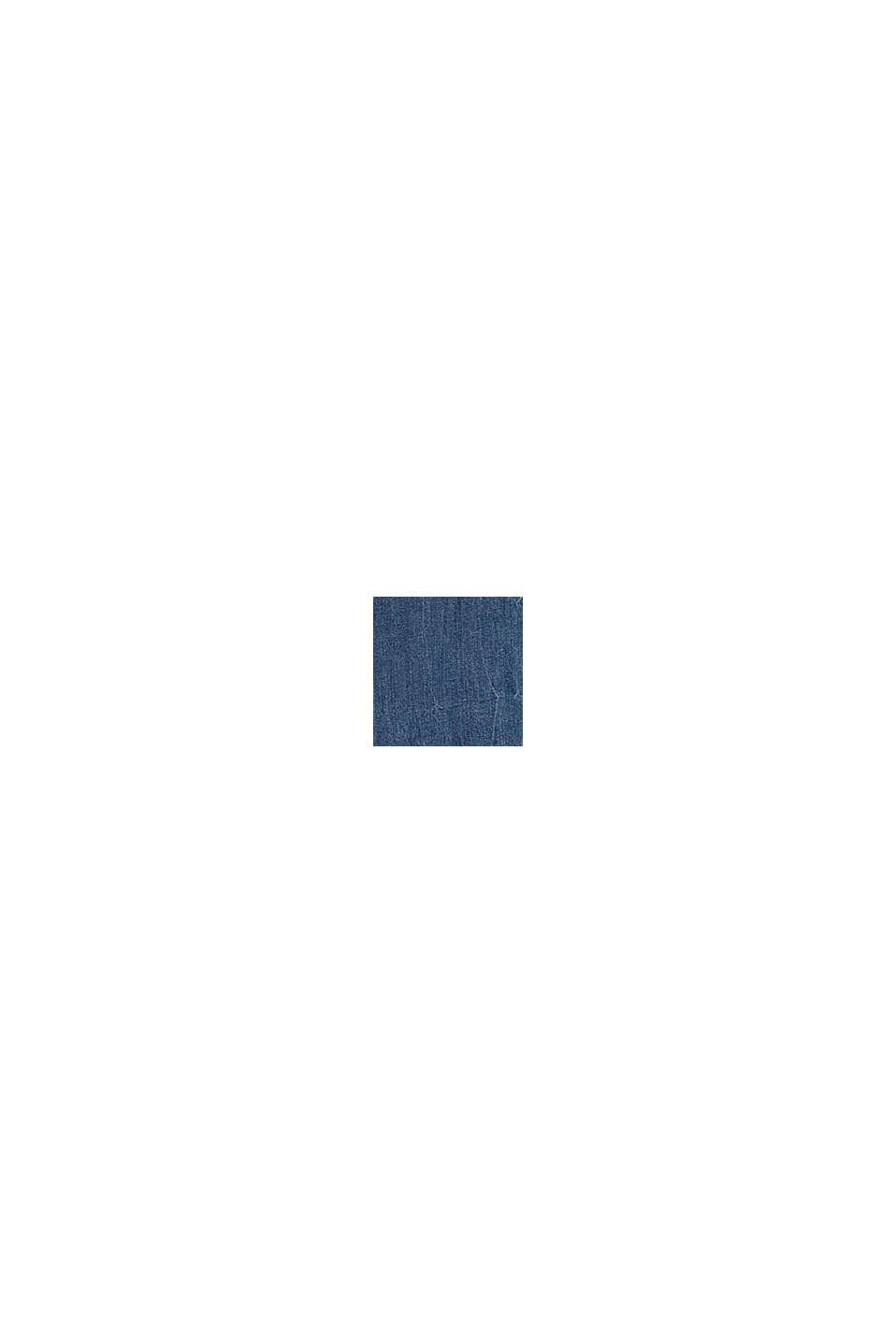 Jeans stretch CURVY in cotone biologico, BLUE MEDIUM WASHED, swatch