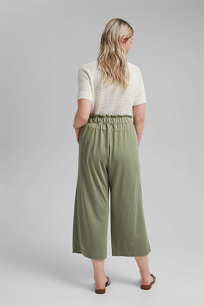 CURVY modal blend: flowy culottes, LIGHT KHAKI, detail image number 3