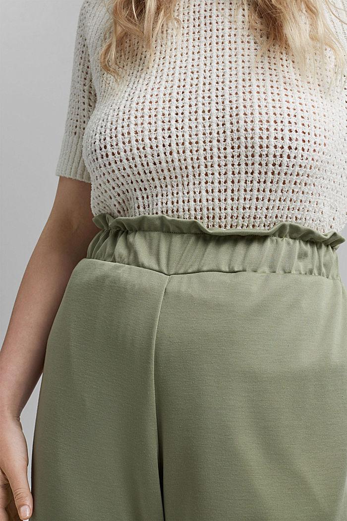 CURVY modal blend: flowy culottes, LIGHT KHAKI, detail image number 2