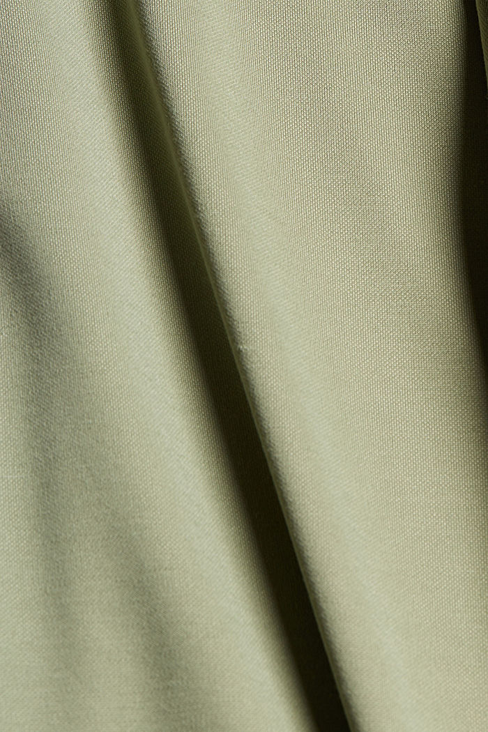 CURVY modal blend: flowy culottes, LIGHT KHAKI, detail image number 4