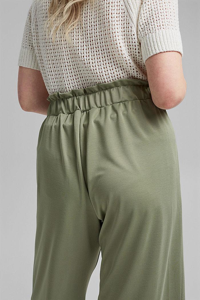 CURVY modal blend: flowy culottes, LIGHT KHAKI, detail image number 5