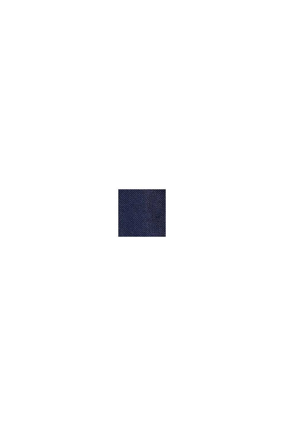 CURVY linne: culottebyxa med elastisk linning, NAVY, swatch