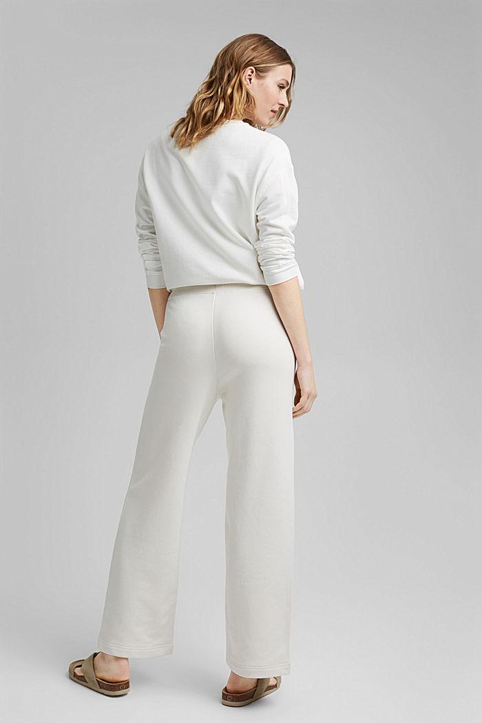 Pantalon de jogging à jambes larges, 100% coton, OFF WHITE, detail image number 3