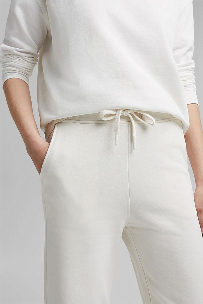 Pantalon de jogging à jambes larges, 100% coton, OFF WHITE, detail image number 2