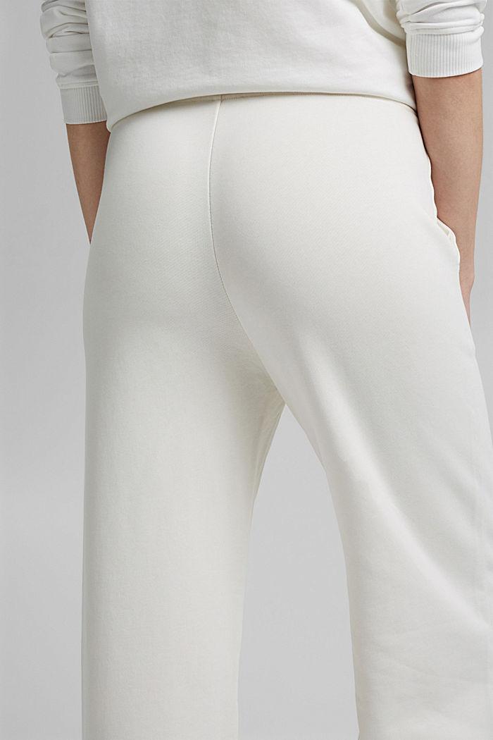 Pantalon de jogging à jambes larges, 100% coton, OFF WHITE, detail image number 5