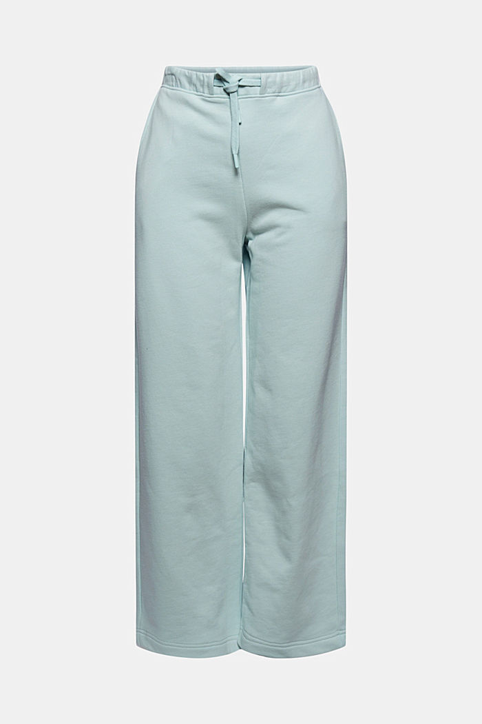 Tracksuit bottoms with a wide leg, 100% cotton