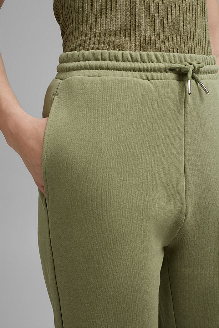 Tracksuit bottoms in 100% cotton, LIGHT KHAKI, detail image number 2