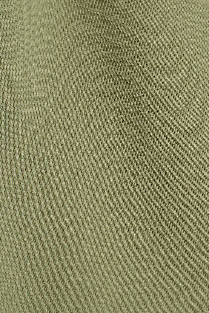 Tracksuit bottoms in 100% cotton, LIGHT KHAKI, detail image number 4