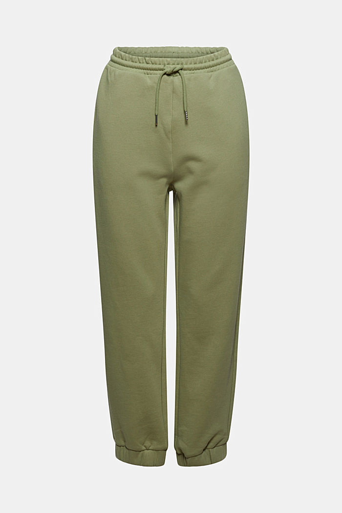 Tracksuit bottoms in 100% cotton, LIGHT KHAKI, detail image number 6
