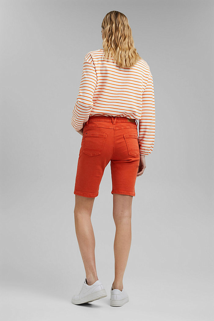 Jogger shorts made with organic cotton, ORANGE RED, detail image number 3