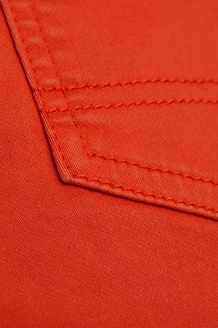 Jogger shorts made with organic cotton, ORANGE RED, detail image number 4