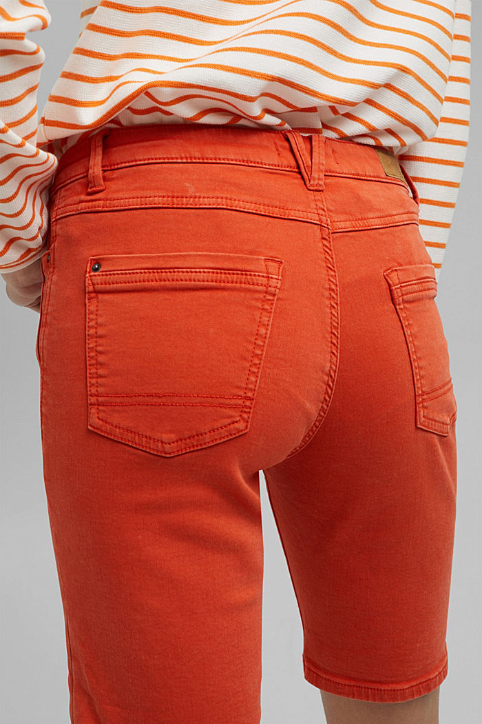 Jogger shorts made with organic cotton, ORANGE RED, detail image number 5