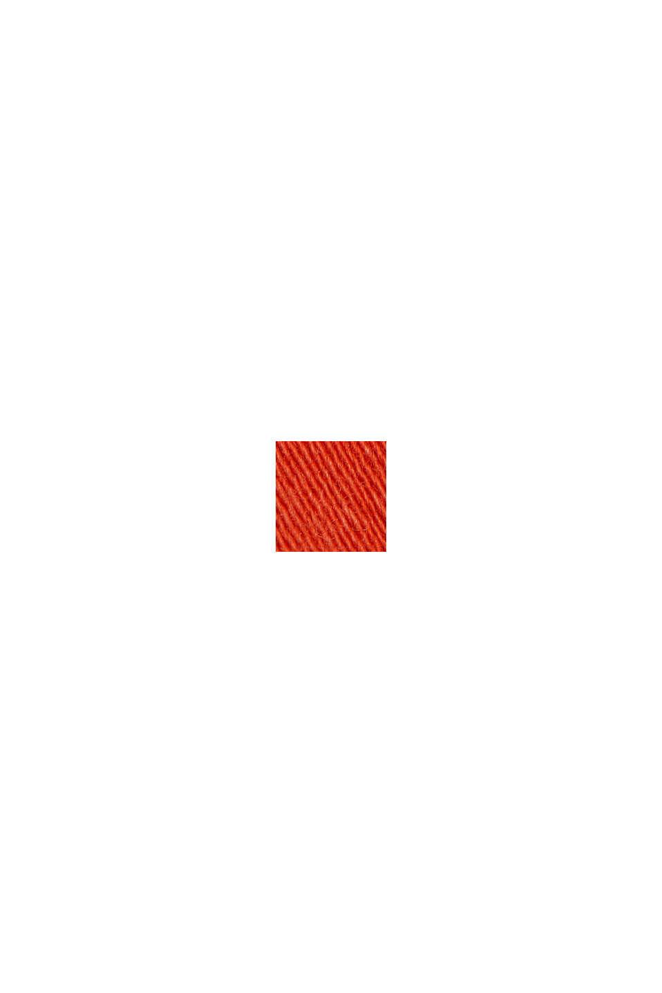 Jogger-shorts med økologisk bomuld, ORANGE RED, swatch