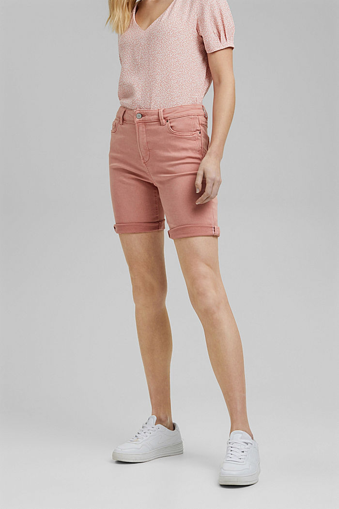 Jogger shorts made with organic cotton, NUDE, detail image number 0