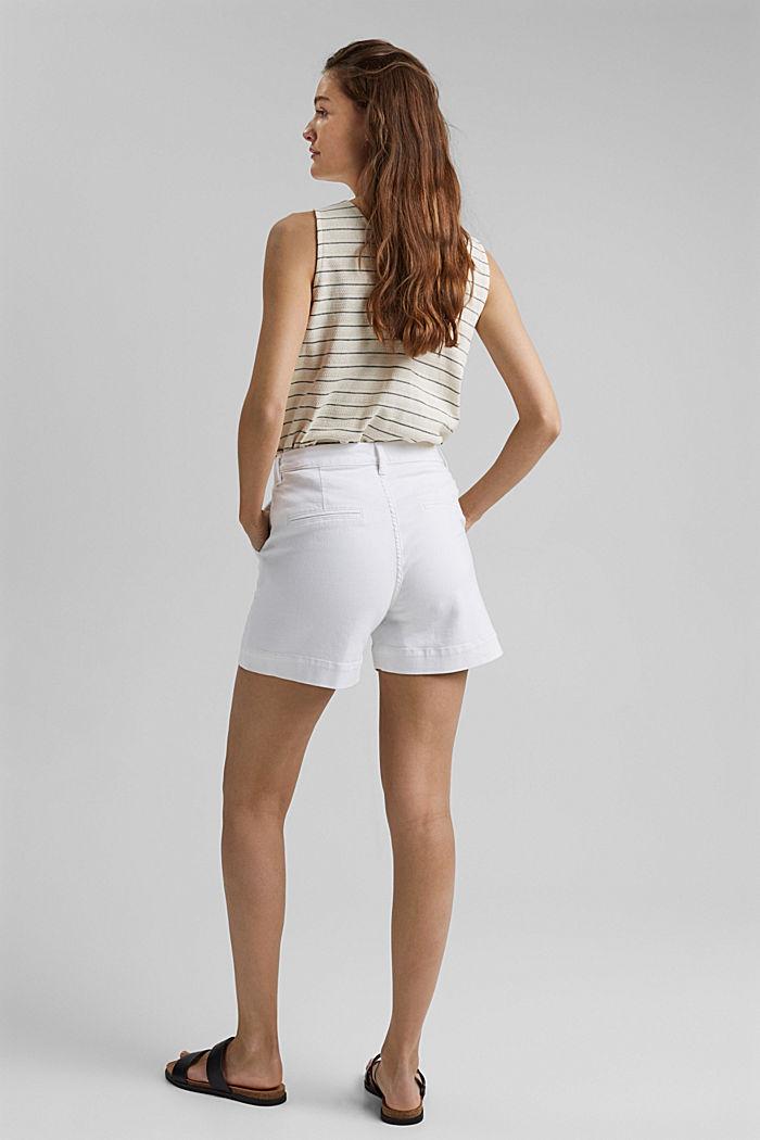 Short en jean à teneur en coton biologique, WHITE, detail image number 3