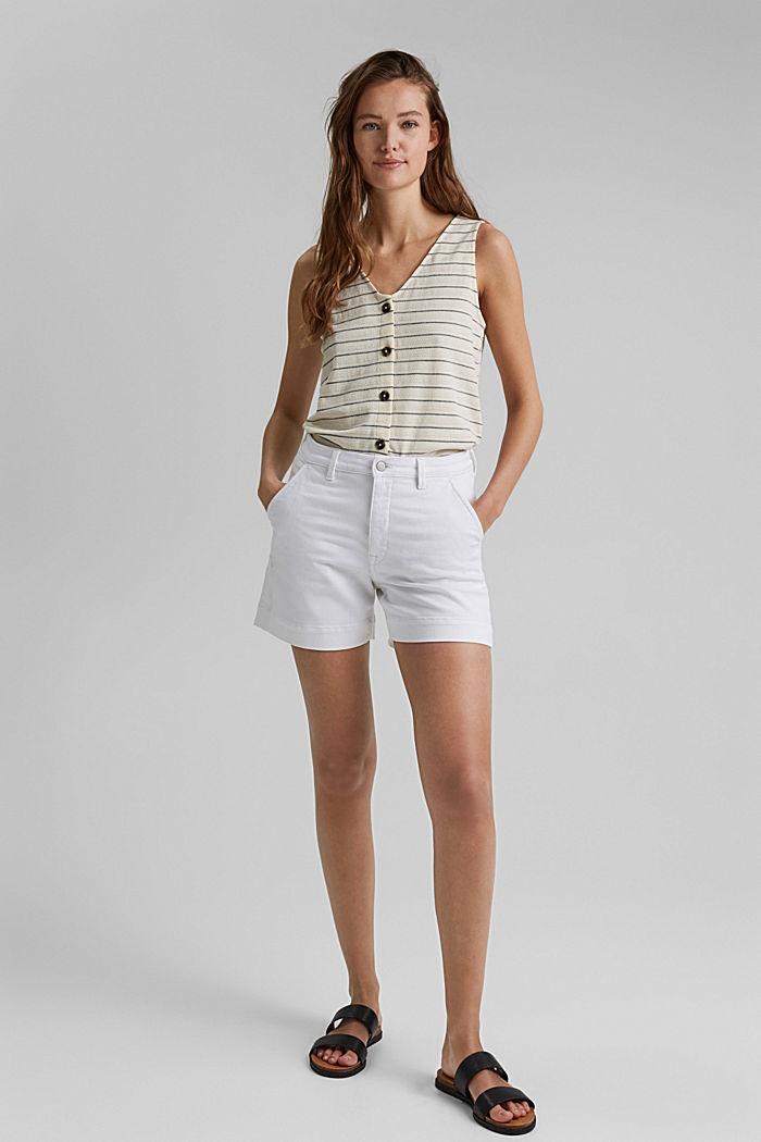 Short en jean à teneur en coton biologique, WHITE, detail image number 1