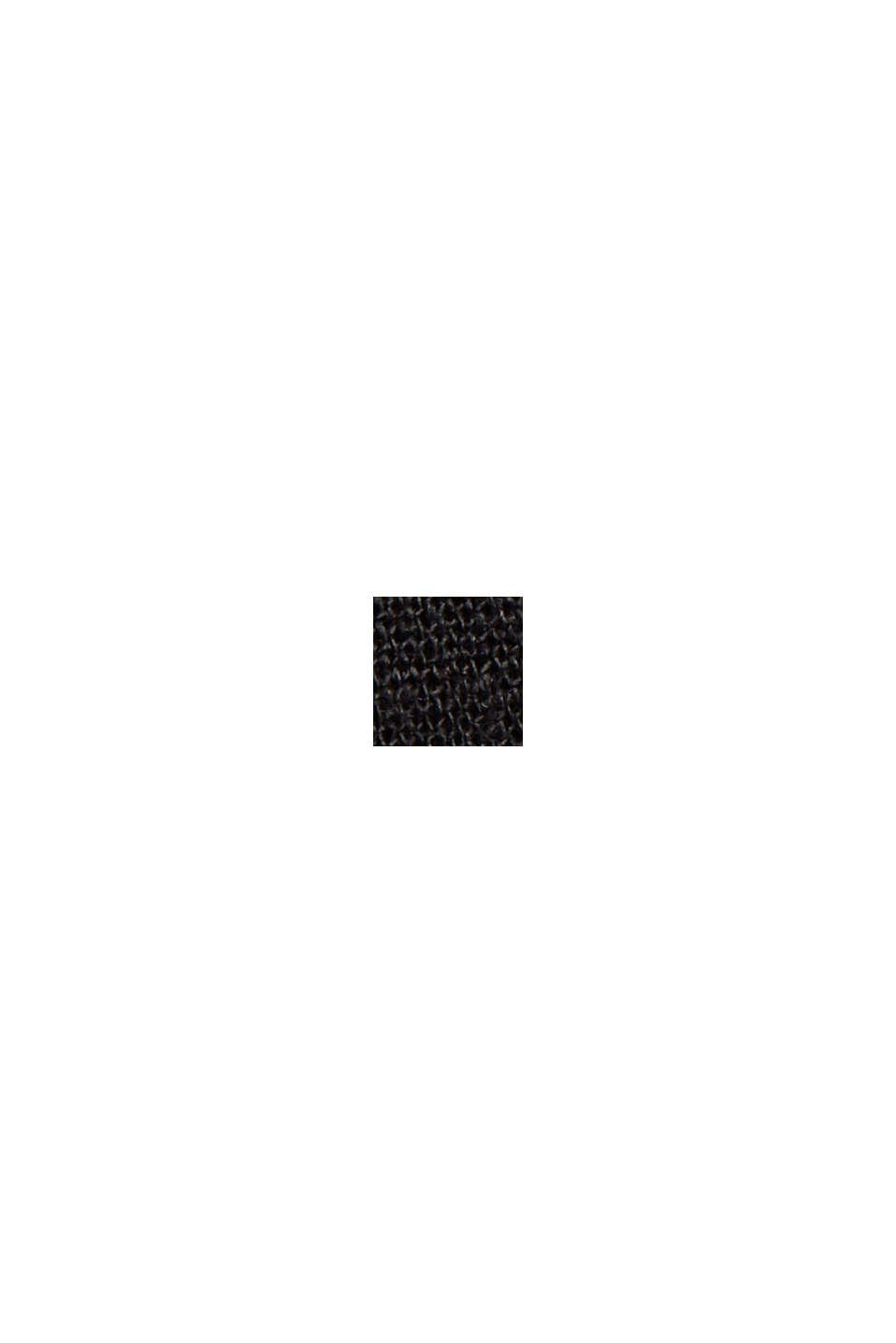 Hørblanding: shorts med bindebælte, BLACK, swatch