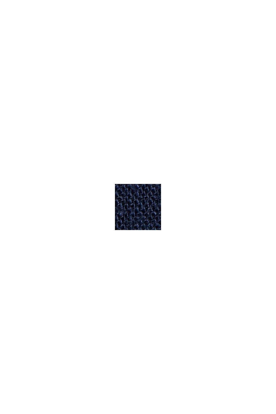 Hørblanding: shorts med bindebælte, NAVY, swatch