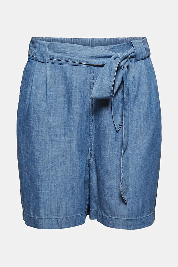 Aus TENCEL™: Shorts aus Sommer-Denim