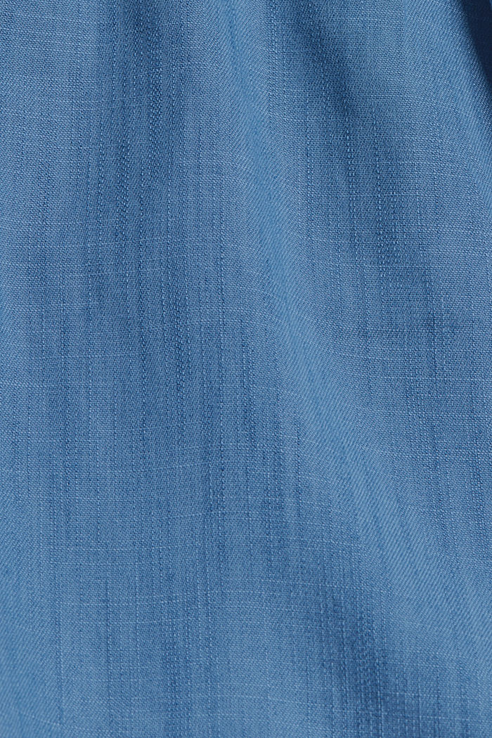 Made of TENCEL™: shorts in a denim look, BLUE MEDIUM WASHED, detail image number 4