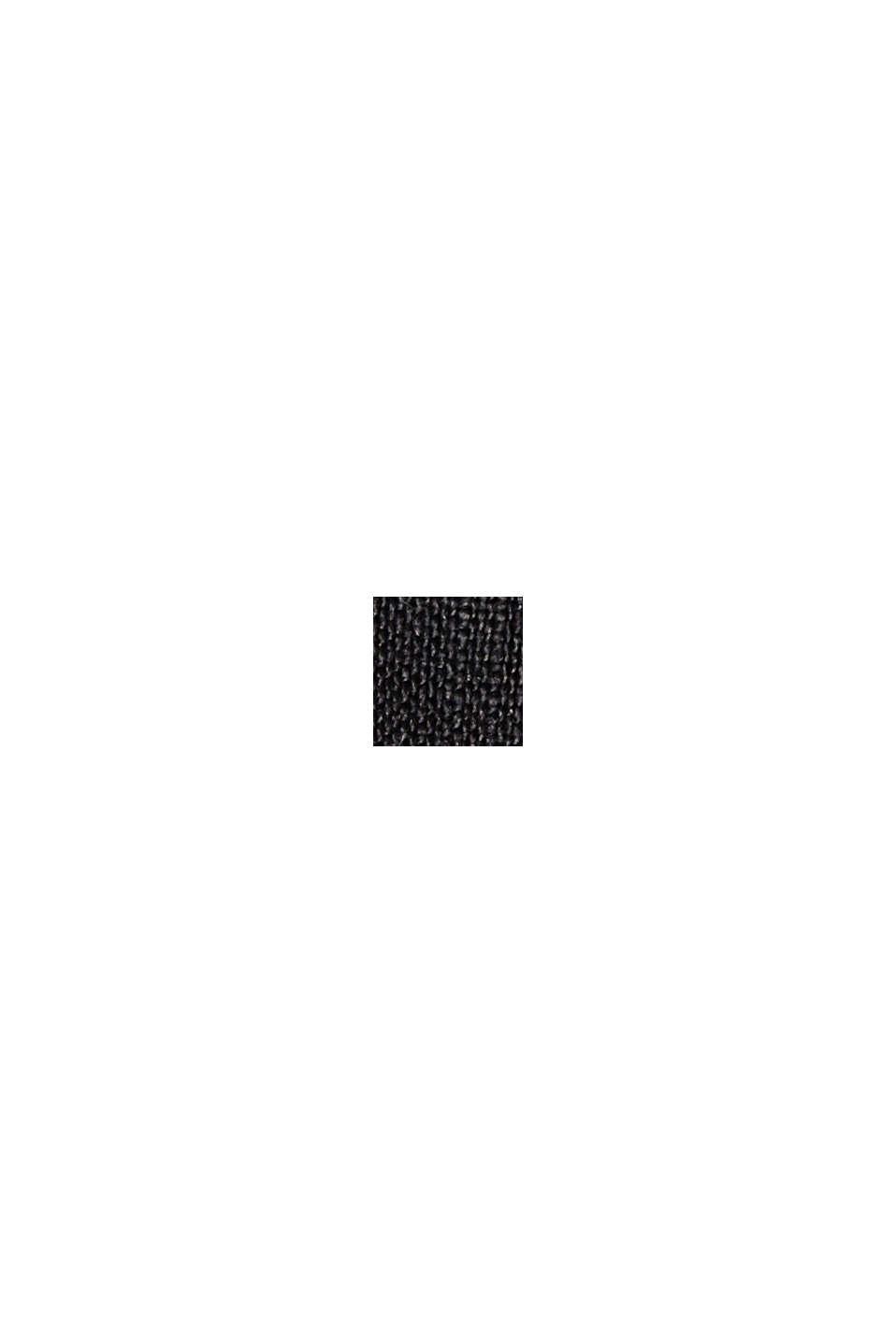 I 100% hør: shorts med paperbag-linning, BLACK, swatch