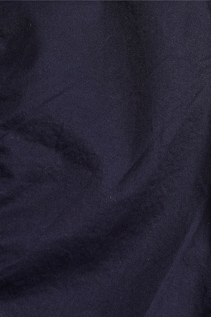 Short à ceinture à nouer, 100% coton biologique, NAVY, detail image number 4