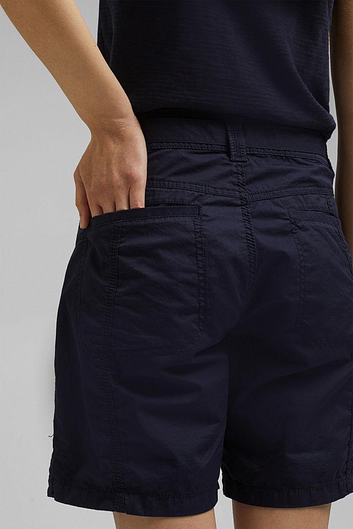 Short à ceinture à nouer, 100% coton biologique, NAVY, detail image number 5