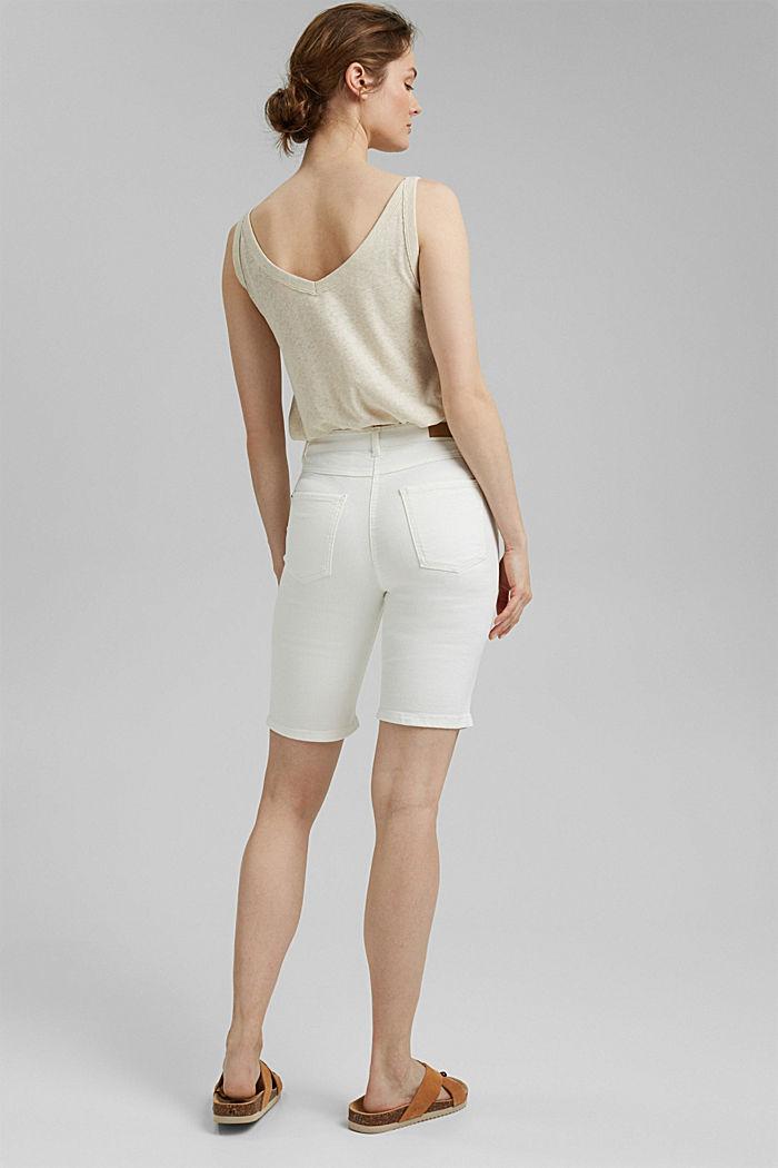 Bermuda shorts made of organic cotton, OFF WHITE, detail image number 3