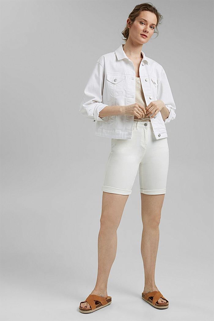 Bermuda shorts made of organic cotton, OFF WHITE, detail image number 1
