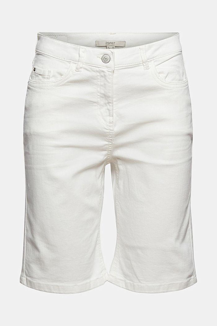Bermuda shorts made of organic cotton, OFF WHITE, detail image number 7