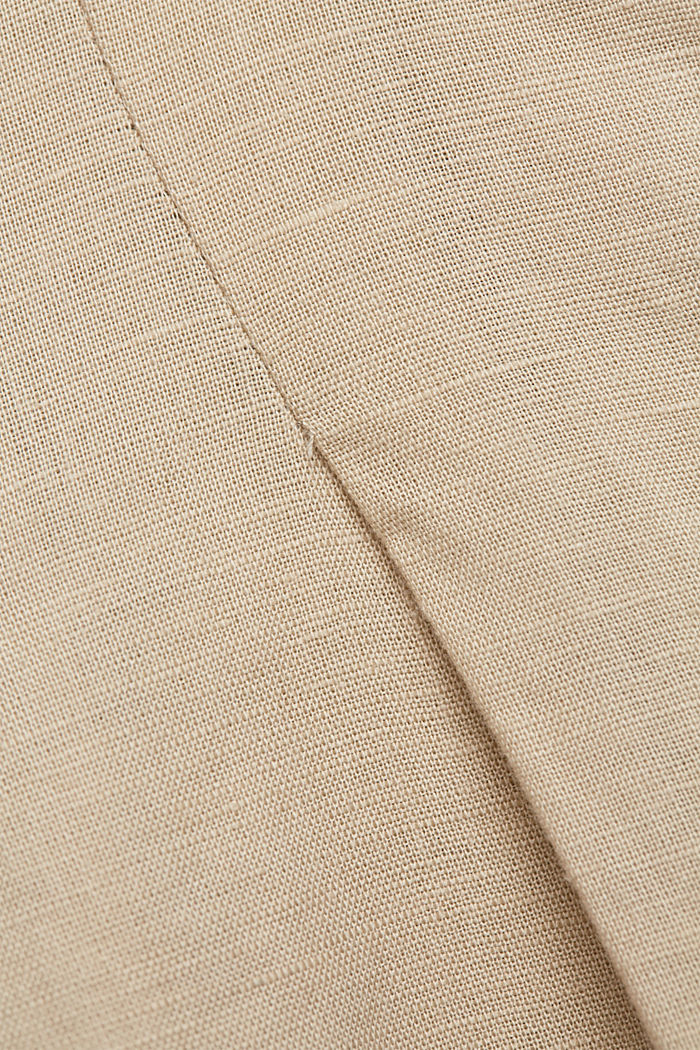 With linen: Midi skirt with button placket, SAND, detail image number 4