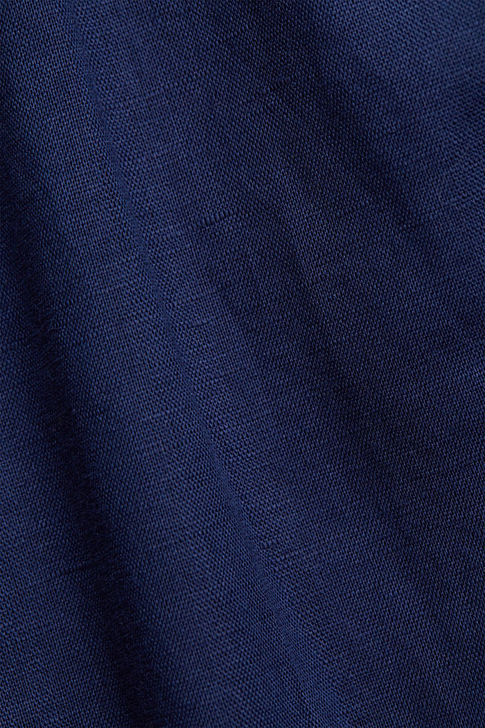 With linen: Midi skirt with button placket, DARK BLUE, detail image number 4