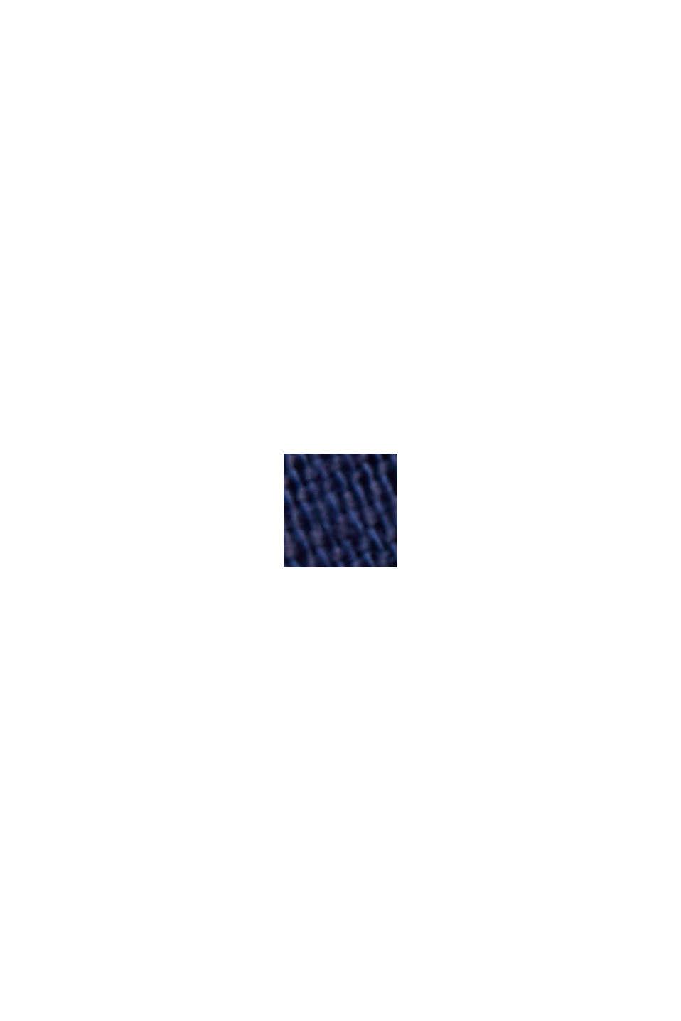 Con lino: gonna midi con abbottonatura, DARK BLUE, swatch