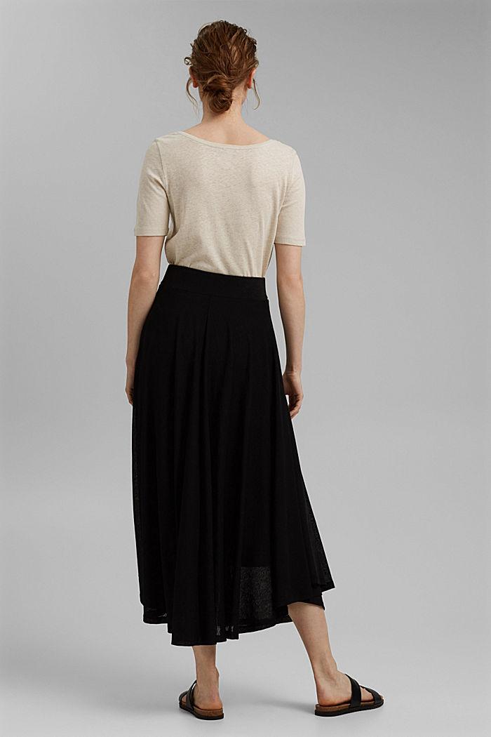 Midi-length jersey skirt, BLACK, detail image number 3
