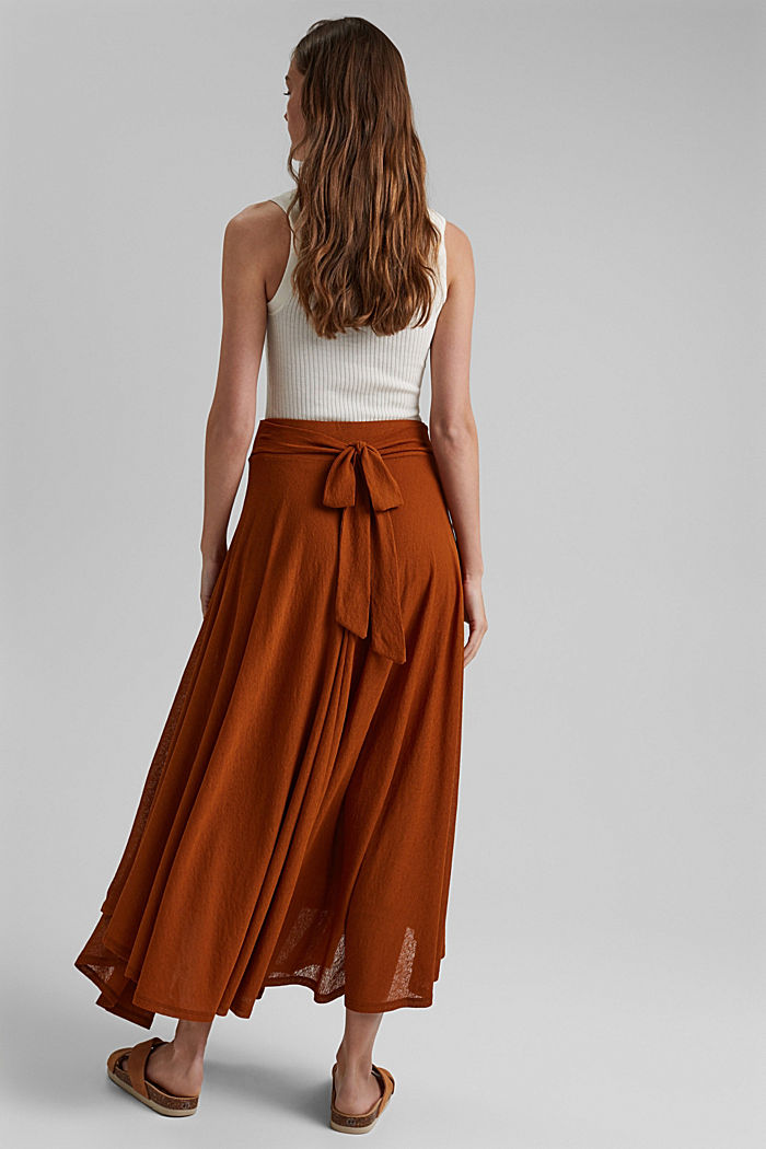 Midi-length jersey skirt, CARAMEL, detail image number 3