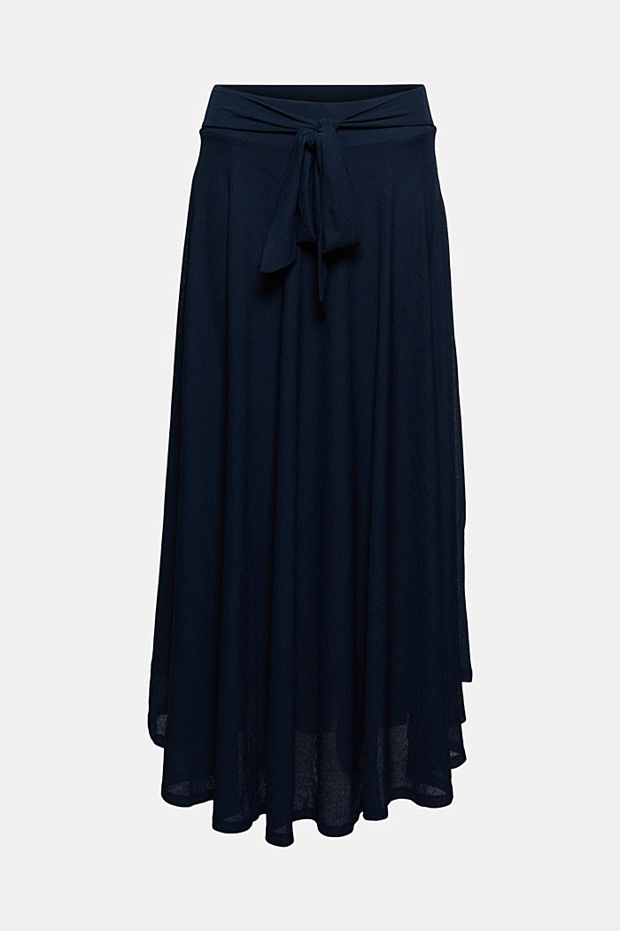 Midi-length jersey skirt