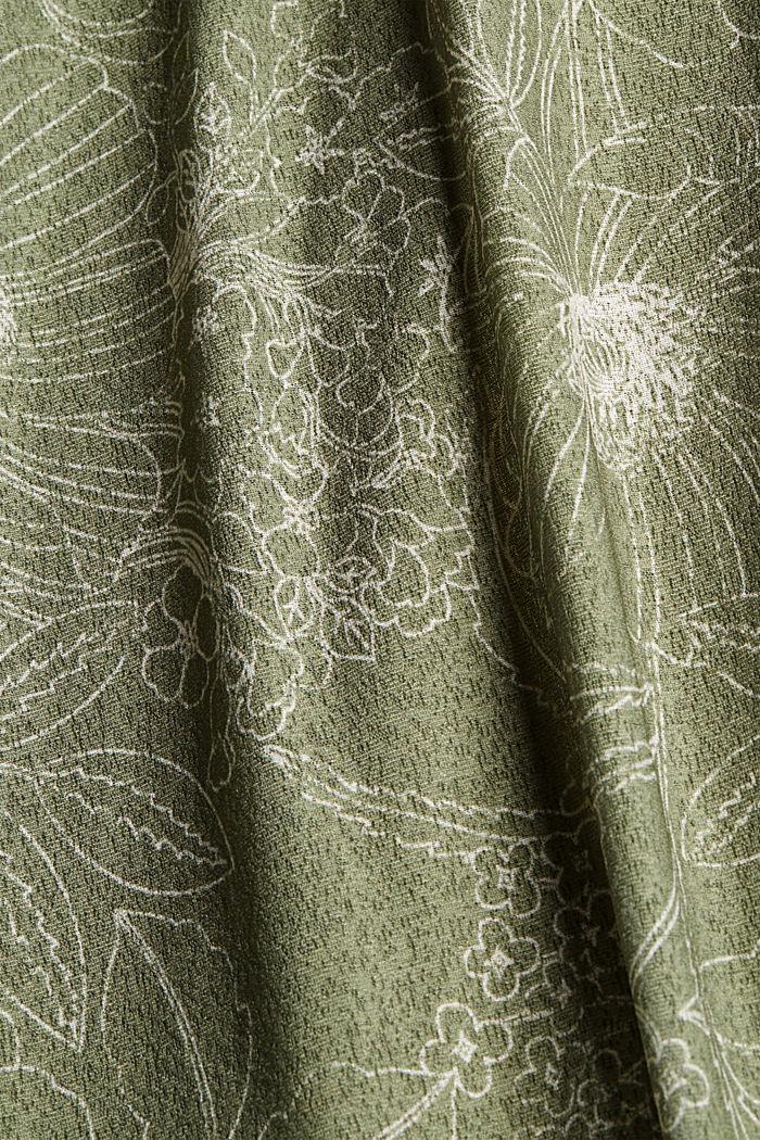 Spódnica maxi z jerseyu z nadrukiem, LIGHT KHAKI, detail image number 4