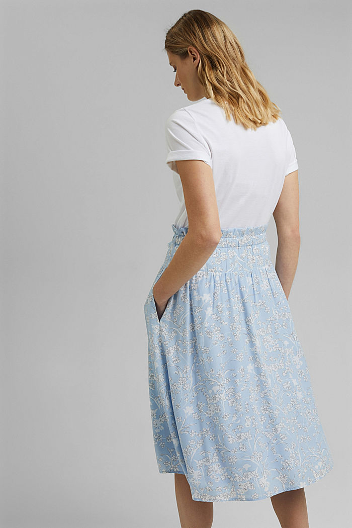 Midi skirt with an elasticated waistband and LENZING™ ECOVERO™, LIGHT BLUE, detail image number 3