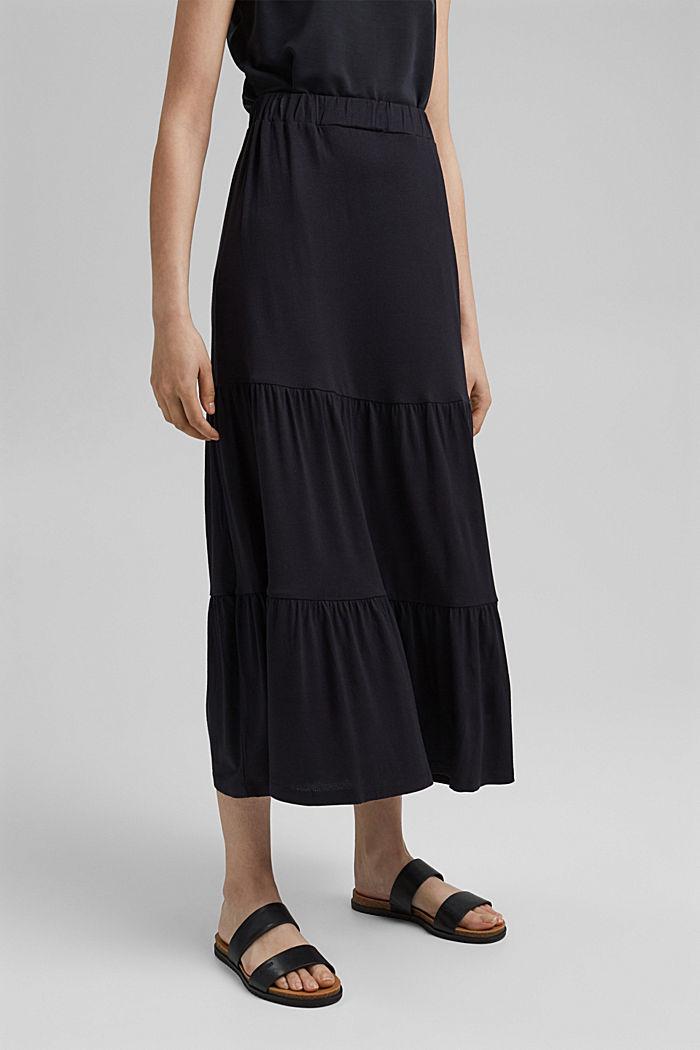 Jersey rok van LENZING™ ECOVERO™, BLACK, detail image number 0