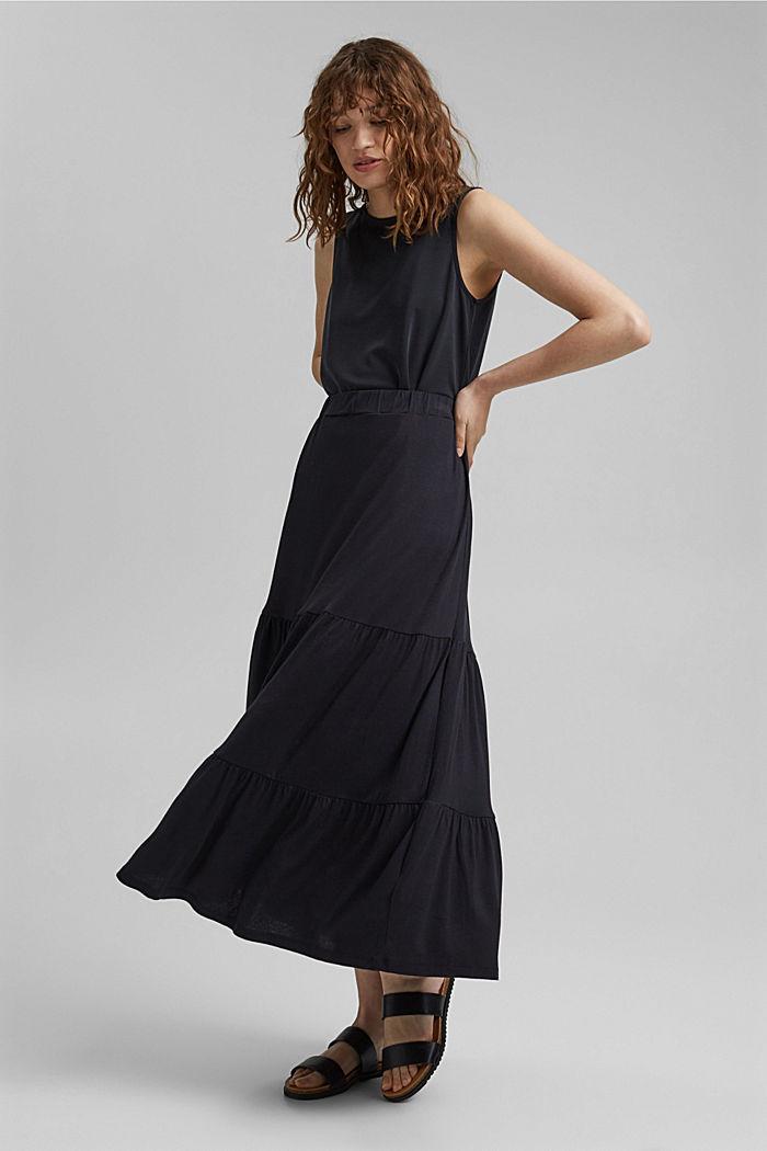Jersey rok van LENZING™ ECOVERO™, BLACK, detail image number 1