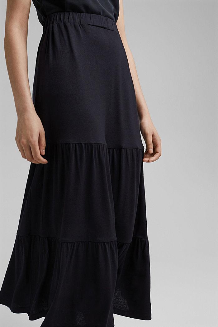Jersey rok van LENZING™ ECOVERO™, BLACK, detail image number 2