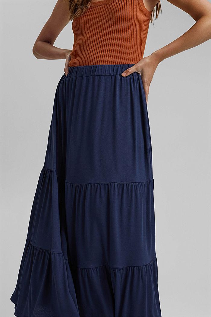 Falda de jersey en LENZING™ ECOVERO™, NAVY, detail image number 2