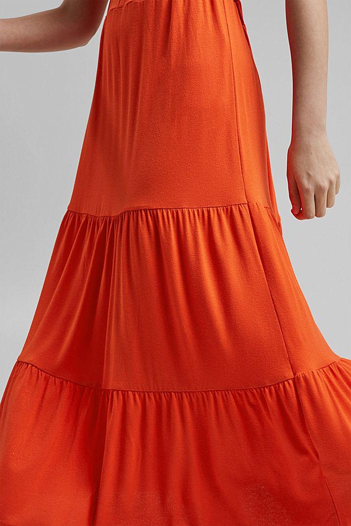 Falda de jersey en LENZING™ ECOVERO™, ORANGE RED, detail image number 2