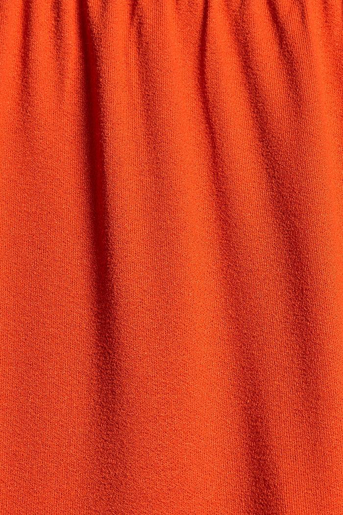 Falda de jersey en LENZING™ ECOVERO™, ORANGE RED, detail image number 4