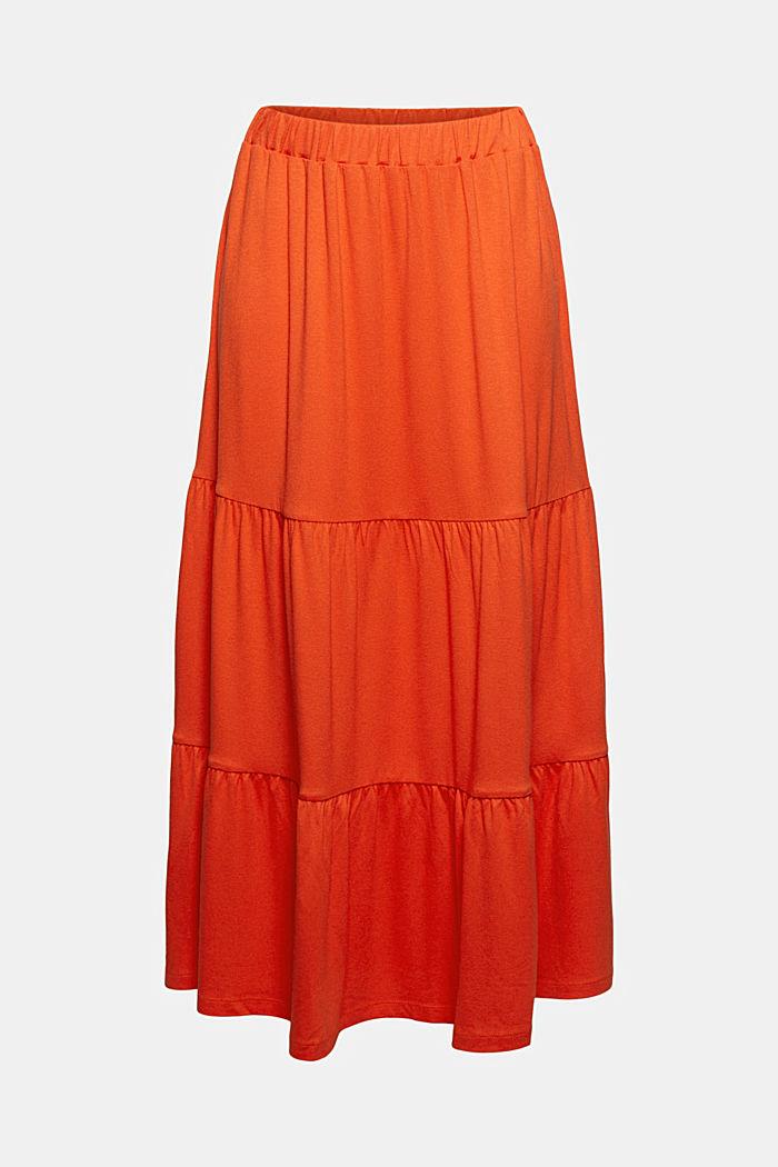 Falda de jersey en LENZING™ ECOVERO™, ORANGE RED, detail image number 5