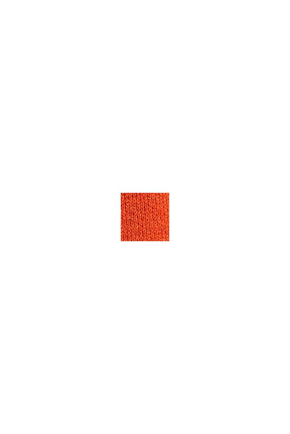 Jerseynederdel af LENZING™ ECOVERO™, ORANGE RED, swatch